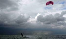 Kite surfing at Amager Strandpark, Copenhagen